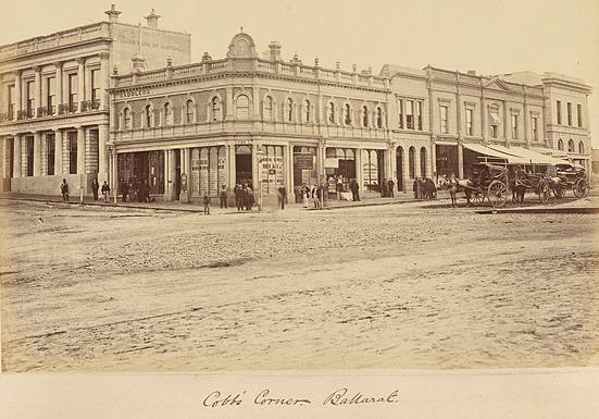 Cobbs Corner, Ballarat - circa 1860's